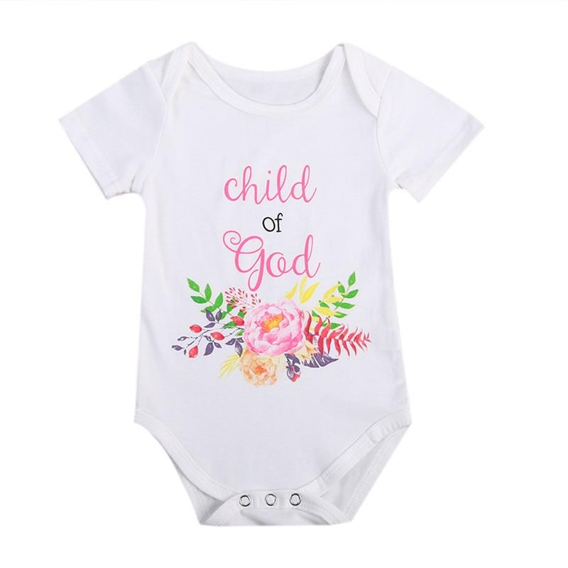 Fashion Summer White Baby Bodysuits 0 24Months Twins Boy Girl