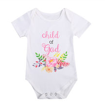 Fashion Summer White Baby Bodysuits 0-24Months Twins Baby Boy Girl Clothes 1st Birthday Gift For Babies Newborn Baby Clothing(China)