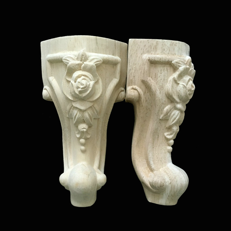 Wood carving custom furniture foot European carving and cabinet accessories sofa foot