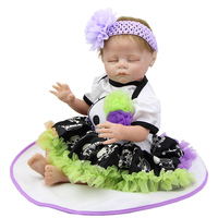 NPK Collection Collectible Reborn Baby Doll Sleeping Newborn Girl Babies Real Touch Princess Girls Dolls Kids