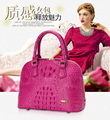 100% genuine crocodile skin Women Messegner Bag , Authentic Crocodile Skin Womens Shell Cross Body Bag Purse Handbag