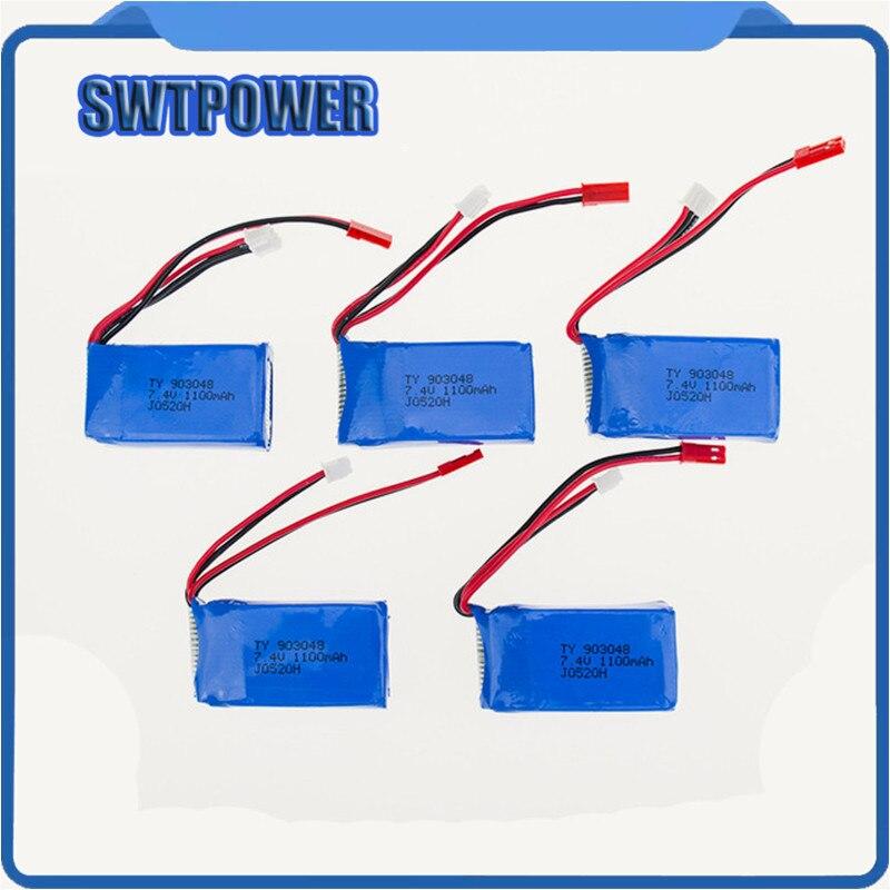 Chaude 7.4 V 1100 mah Wltoys 5/4/3/2/1 pcs A949 A959 A969 A979 K929 LiPo Batterie JST plug Partie pour Wltoys RC Partie Gros