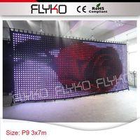 Heißer bühnennutzung 3x7 m p9 free verschiffen gif display led bildschirm-in Bühnen-Lichteffekt aus Licht & Beleuchtung bei