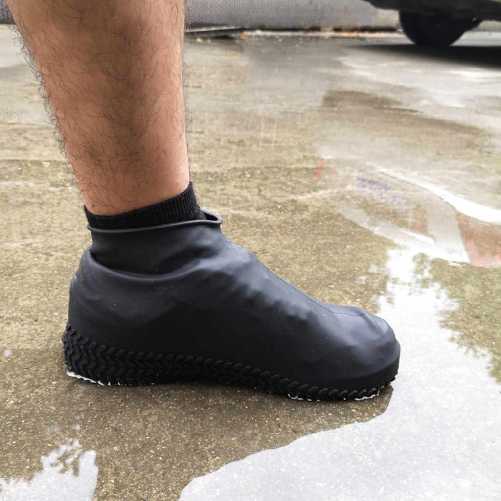 Silicone Outdoor antiscivolo Impermeabile Scarpe Coperture Portatile Stivali Da Pioggia Scarpe Impermeabili Copertura Copertura di Donne Degli Uomini Adolescenti Anti-sabbia copertura del pattino
