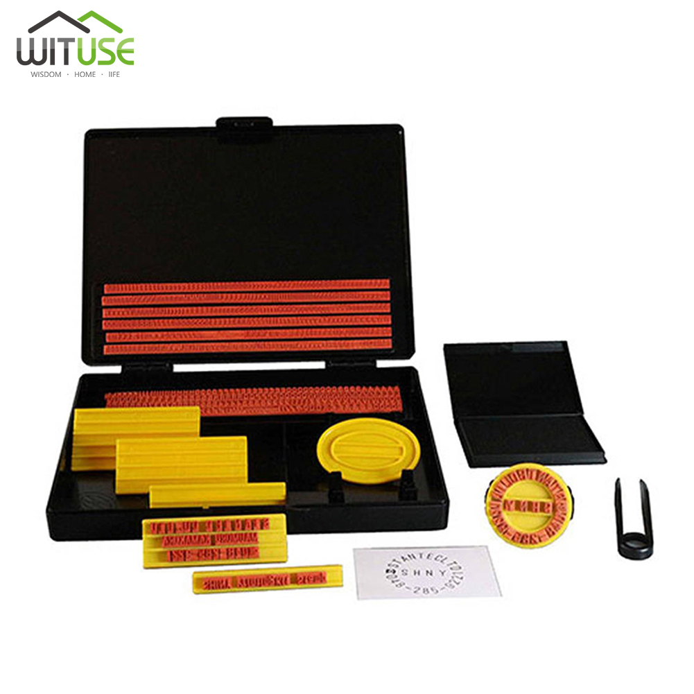 S-200 sceau bricolage tampon en caoutchouc Kit d'impression caractères alphanumériques mobile combinaison imprimante bureau papeterie entreprise Stamper