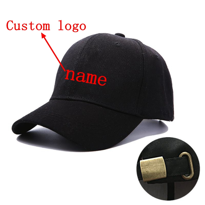 WZCX New MOQ10pcs Custom Logo Embroidery Unisex Adjustable Baseball Cap Casual Tide Fashion Hip Hop Cap Adult Cap