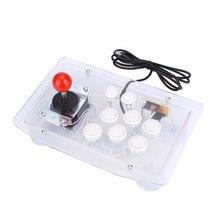 Joystick de acrílico transparente para Arcade, Joystick de Juegos de ordenador con cable USB, 8 botones direccionales