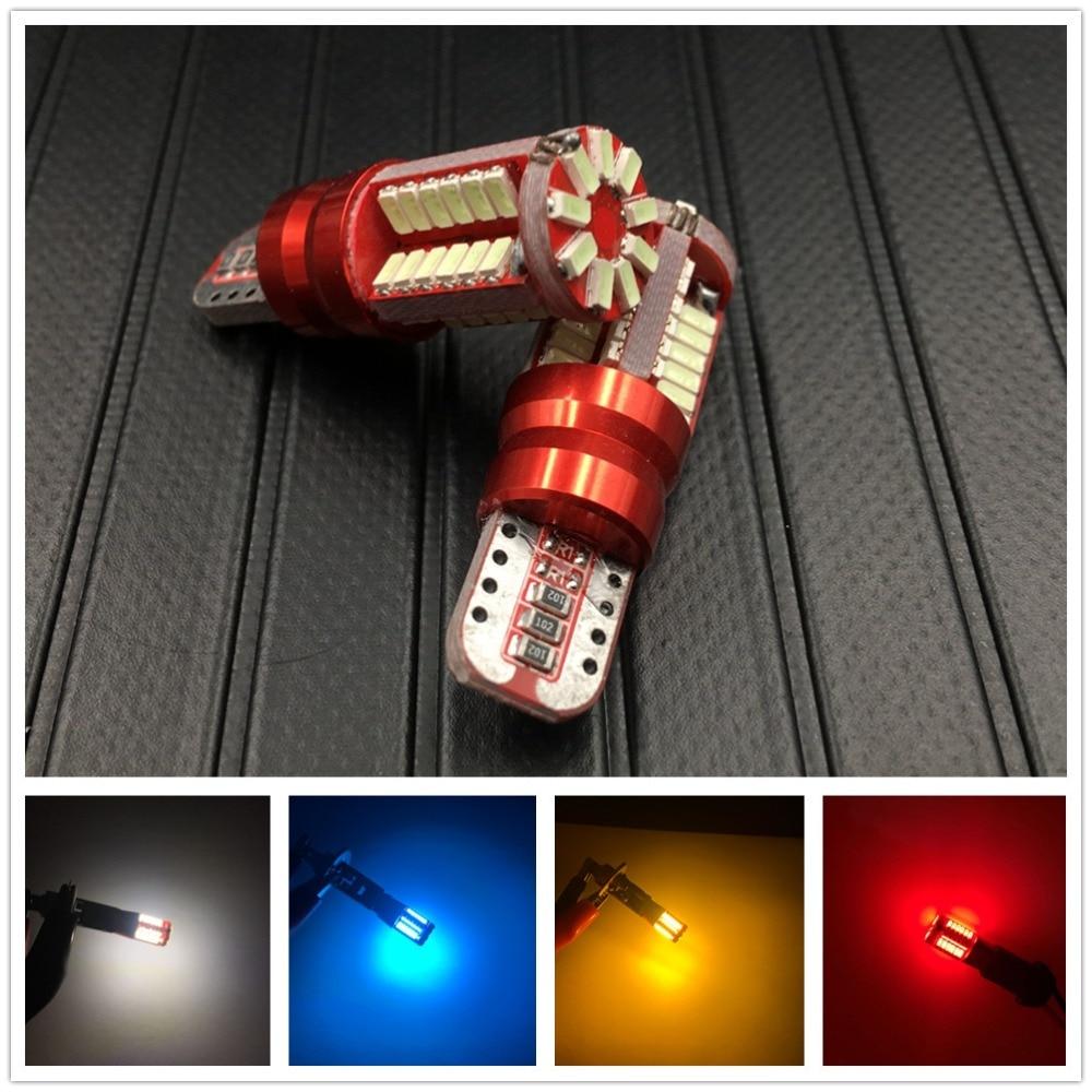 2* CANBUS Free Resistors 501 W5W T10 Retrofit Side Light Bulbs  6000K 57SMD