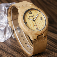 TIEDAN Simple Wood Watches Man Nature Maple Wooden Casual Sport Quartz-watch Mens Wristwatches Male Relogio Fashion Timepiece