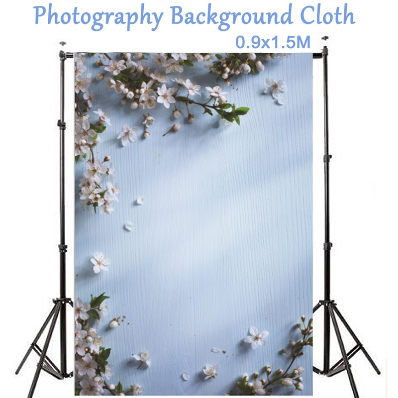 Freya Vertical 1.5x0.9m Photography Backdrop Background For Photo Studio Flower Wood Floor Backdrops