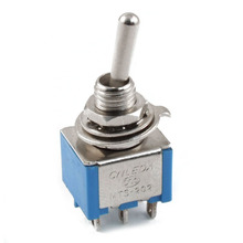 AC 3A/250V 6A/125V 6 Pin DPDT On/On 2 Position Mini Toggle Switch Blue