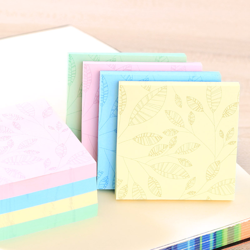 1 Pack 100 Sheets Memo Pads Stickers Self-Adhesive Sticky Notes 76x76mm Post It Office And Business Deli 6409