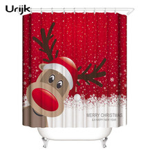 Urijk Christmas Shower Curtain Bathroom Snowman Printed Waterproof Curtains Decoration For Home High Quality New