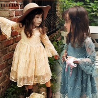 Summer Lace Girls Dress Baby Tutu Dresses For Kids Formal Birthday Wedding Party Clothes Children S