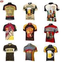 Homens cerveja ciclismo jerseys ropa ciclismo de manga curta roupas ciclismo clássico roupas de ciclismo 10 estilo verão bicicleta wear mtb