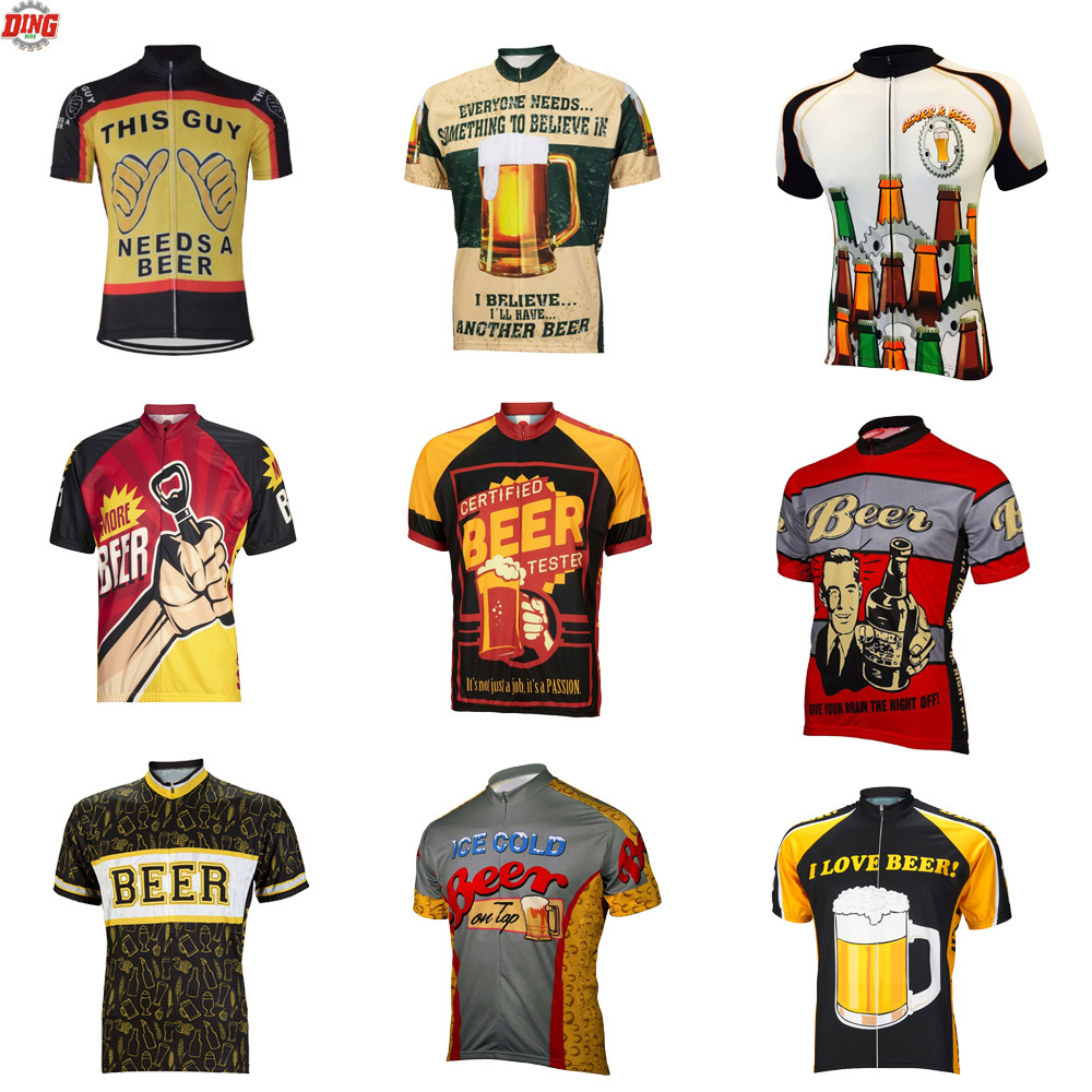 Männer Bier radtrikots ropa ciclismo kurzarm radsportbekleidung klassische Radfahren kleidung 10 Stil Sommer bikewear MTB