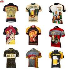Для мужчин пиво майки Спортивные ropa ciclismo с короткими рукавами велосипедная Форма Классический Одежда для езды на велосипеде 10 Стиль Лето Велосипед Одежда MTB