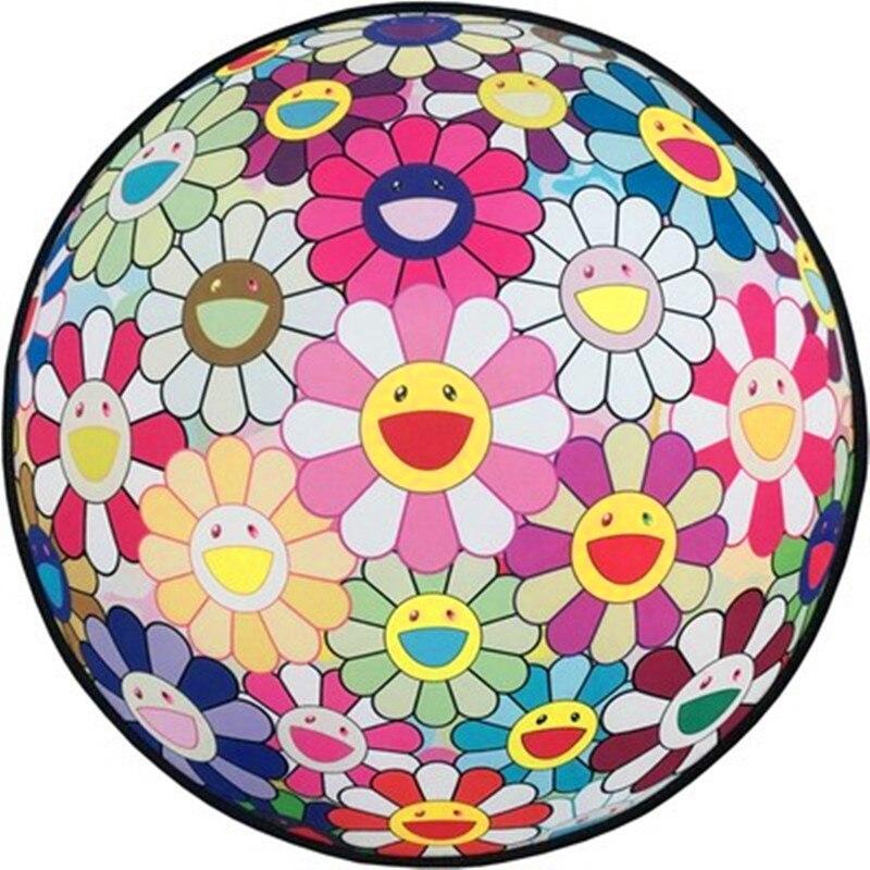 Originalfake Kaws Takashi Murakami Zonnebloem Ronde Tapijt Street Art Opknoping Stoel Kussen Creatieve Slaapkamer Ornamenten X811 We Nemen Klanten Als Onze Goden