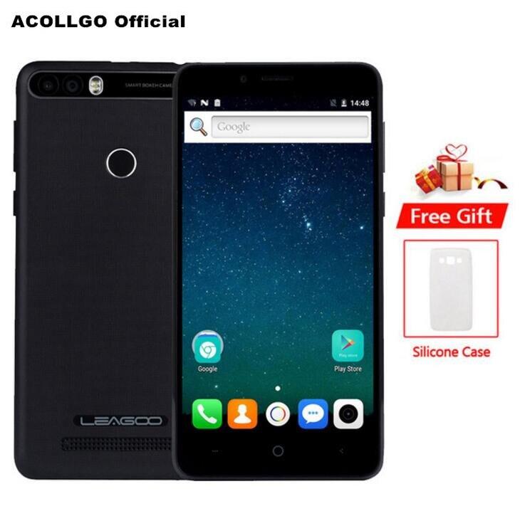 LEAGOO origine KIICAA Puissance 4000 mah Charge Rapide Mobile Téléphone 5.0 HD MT6580A Quad Core 2 gb + 16 gb Android 7.0 8MP Double Caméra GPS