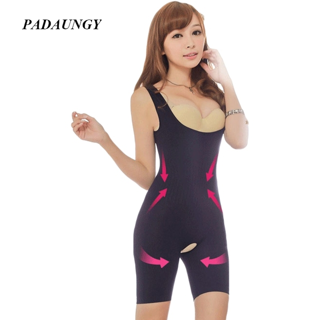 95979207c PADAUNGY Ladies Bodysuits Shapewear Push Up Waist Trainer Hot Shapers Women  Full Bodyshaper Butt Lifter Control