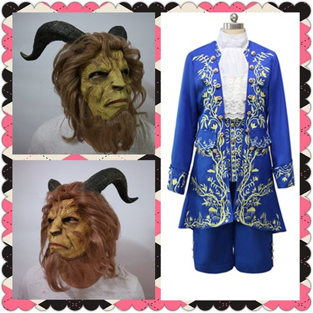 Hot Movie Beauty and The Beast Cosplay Beast Prince Halloween Costumes Jacket+Vest+Shirt & Hot Movie Beauty and The Beast Cosplay Beast Prince Halloween ...
