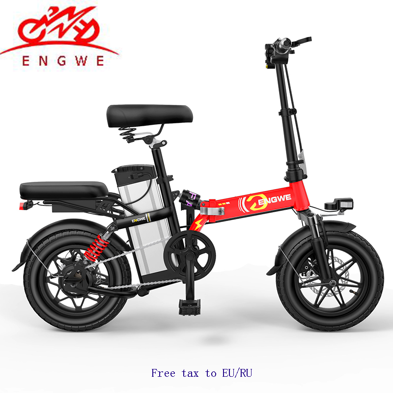 MINI bike Folding Electric Bike 48V25A 30A Lithium Battery 14 inch 400 W Powerful Motor Electric