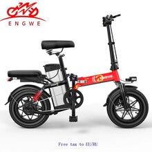 Мини-велосипед складной электрический велосипед 48V25A/30A литиевая батарея 14 дюймов 400 Вт Мощный мотор электрический велосипед Скутер Город e велосипед