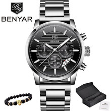 2020 BENYAR Top Brand Luxury Mens Watches Casual Fashion Chronograph Sports Military Quartz Wrist Watch Clock Relogio Masculino