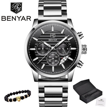2020 BENYAR Top Brand Luxury Men's Watches Casual Fashion Chronograph Sports Military Quartz Wrist Watch Clock Relogio Masculino relogio masculino benyar fashion gold chronograph sport watch mens top brand luxury date quartz wrist watches clock man reloj