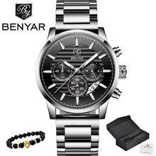 2020 BENYAR למעלה מותג יוקרה גברים של שעונים מקרית אופנה הכרונוגרף ספורט צבאי קוורץ שעון יד שעון Relogio Masculino