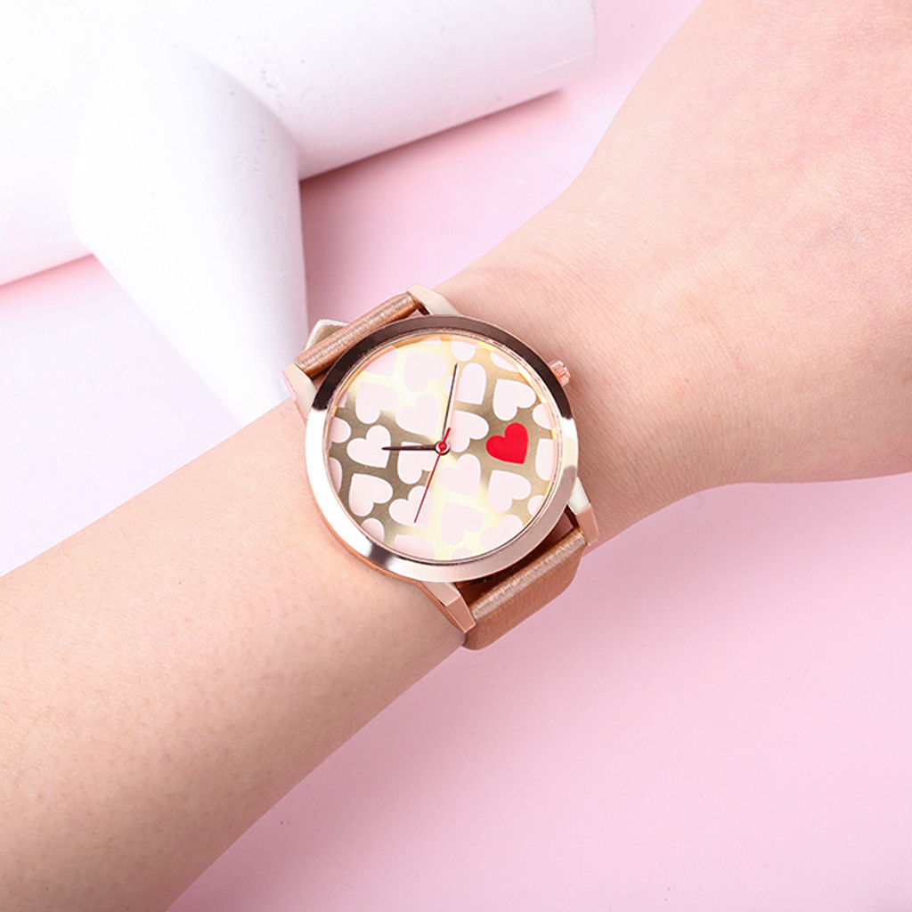 2019 Quartz Watch Fashion Women Watches Street Snap Luxury Female Golden Wrist Jewelry Heart Shaped Clock Ladies Wristwatch 4.2