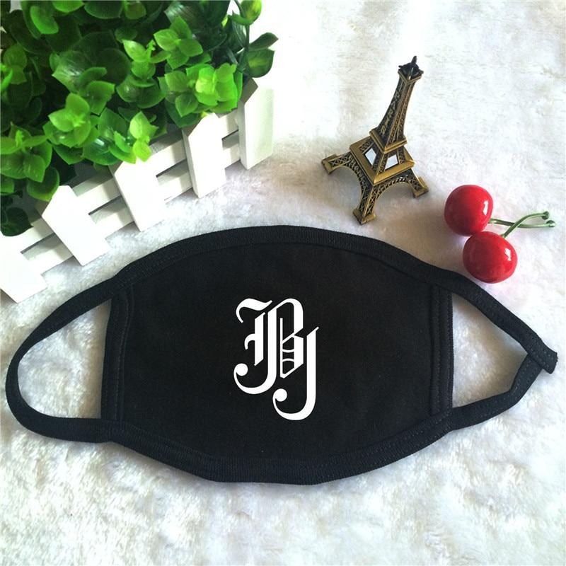 Kpop JBJ Just Be Joyful Album Fantasy Logo Print K-pop Fashion Face Masks Unisex Cotton Black Mouth Mask