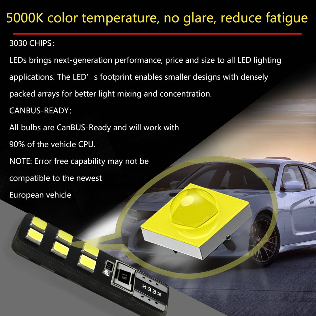Image 4 - LED Light Bulbs For Cars 2Pieces T10 5630 12SMD High Power Car Wedge License Plate LED Light Bulbs Width Reading Panel Lights-in Signal Lamp from Automobiles & Motorcycles