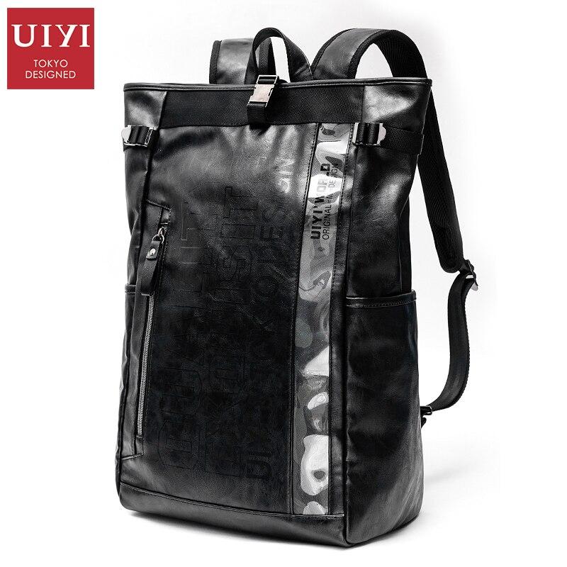 ФОТО UIYI Pu Men Travel Backpack Casual Style Multifunction High Capacity School Bags For Teenagers Student Backpack  #UYB6037