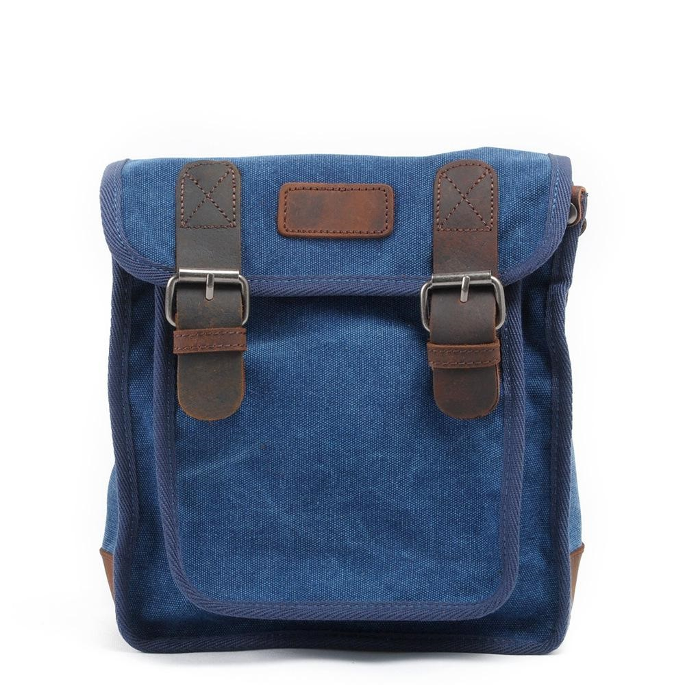 Men Cowhide Leather Canvas Messenger Bag Small Flap Crossbody Shoulder Bags Casual Single Shoulder Canvas Bag Male Handbags japanese pouch small hand carry green canvas heat preservation lunch box bag for men and women shopping mama bag