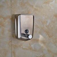 Stainless Steel Chrome Soap Dispenser Wall Mount 800ml Soap Shampoo Dispenser Shower Helper For Bathroom Kitchen