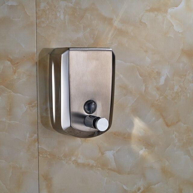 edelstahl chrom seifenspender wandmontage 800 ml seifenspender shampoo dusche helfer fr badezimmer kche - Seifenspender Dusche Wandmontage