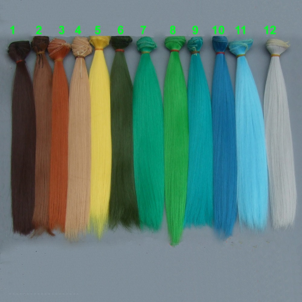 30cm*100cm Doll Hair Straight Doll Trees Diy Doll Wigs For Handmade Interior Textile Doll Hair