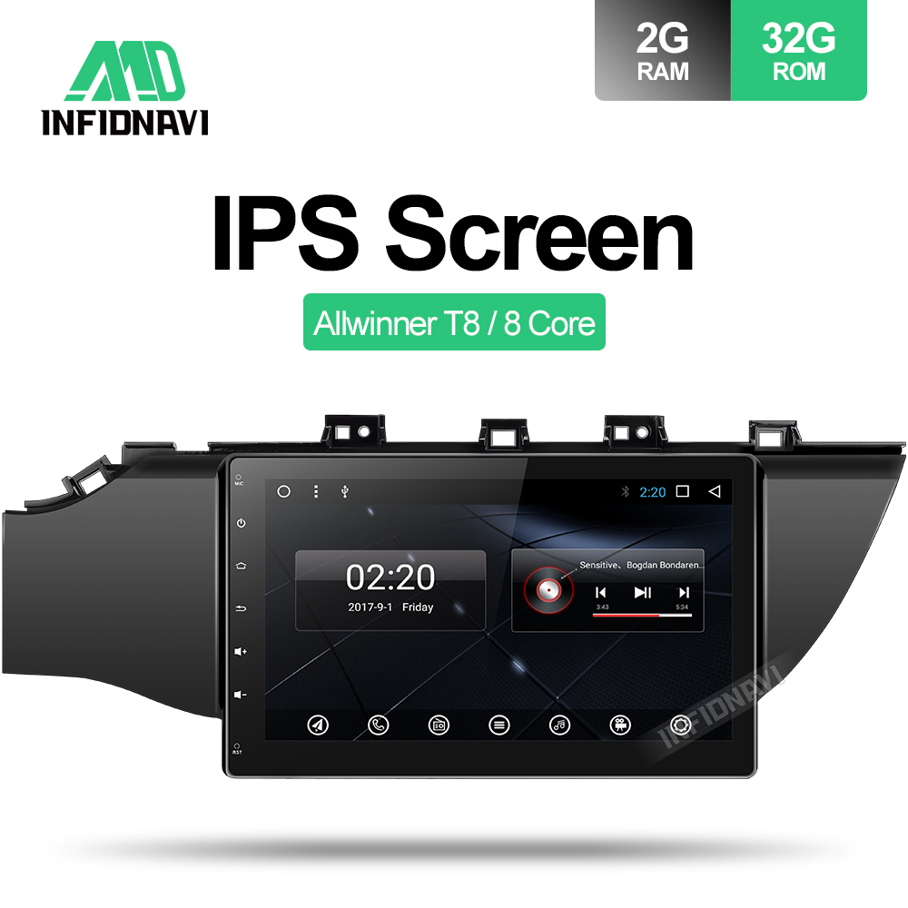 android 8.1 car dvd for Kia K2 RIO 2017 gps navigation car radio video stereo multimedia