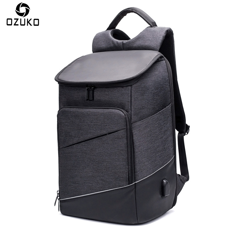OZUKO Waterproof Men Backpack Anti-theft USB charging 15.6 Inch Business Casual Laptop Computer Bag Male Travel School Bags 2018 arctic hunter design backpacks men 15 6inch laptop anti theft backpack waterproof bag casual business travel school back pack