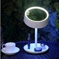 Recargable Lámpara de La Mesita de Luz Colorida Noche LED Compone el Espejo Multifunción Mesa de Espejo de Maquillaje Con Luces