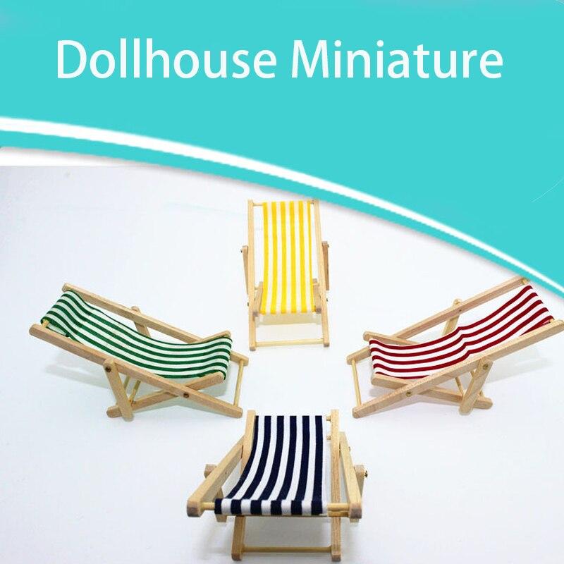 Wondrous Us 1 92 31 Off 1 12 Dollhouse Miniature Accessories Beach Lounge Chair Simulation Furniture Garden Deck Chair Toys For Doll House Decoration On Creativecarmelina Interior Chair Design Creativecarmelinacom