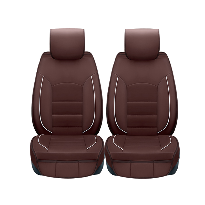 2 pcs Leather car seat covers For peugeot 205 307 206 308 407 207 406 408 301 607 3008 400 rcz car accessories styling for peugeot 206 207 307 308 301 406 407 3008 new brand luxury soft pu leather car seat cover front