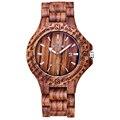 Skone marca New Arrival homens Dress Watch Fahion de madeira relógio de quartzo com calendário de exibição Bangle Natural madeira relógios Relogio