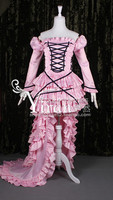 2016 Halloween Costumes For Women Chobits Chii Dress Cosplay Costume Pink Dress