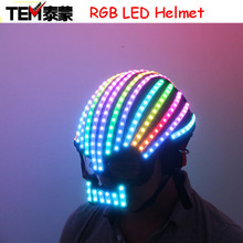 Symphony LED full color LED Helmet Light Emitting Clothing Costumes Wireless Remote Control Robot laser dance performances
