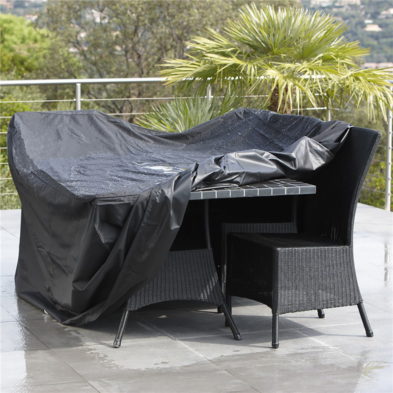 Black 210D Oxford Cloth Garden Patio Table Chair Cover Waterproof Outdoor Furniture Dustproof Protective Cover Garden Supplies 1