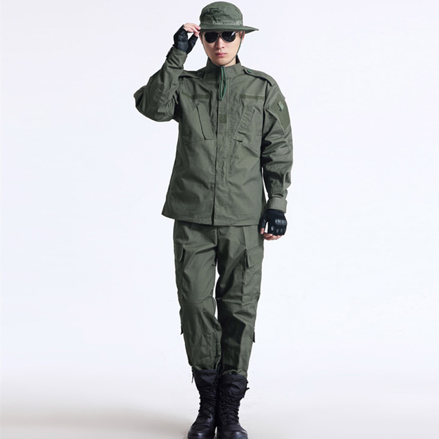TCU Style Army Green Outdoor Camouflage Uniform Tactical Military Uniform Combat Hunting Men's Jacket+Pants Set Hunting Clothes
