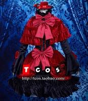 К Кусина Анна Готический в стиле маленькой лолиты платье Косплэй костюм, Идеально подгонять для вас!