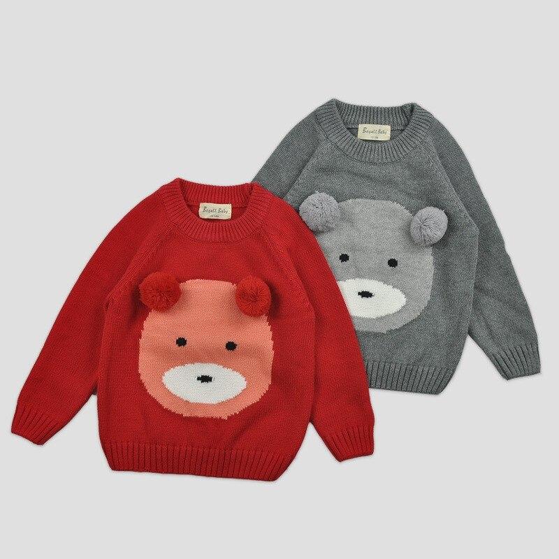 49395ecf0 Children Clothing New 2016 Kids Girls Cute Bear Pattern Sweaters ...